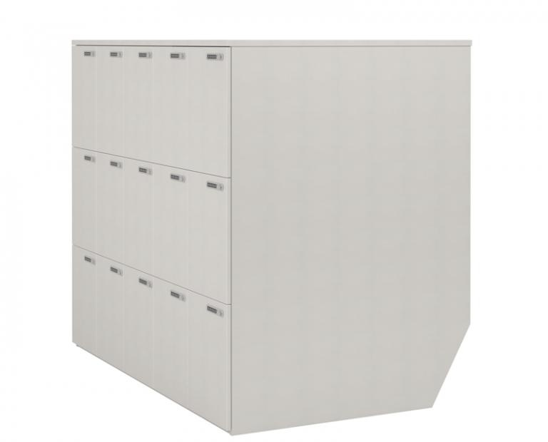 Long Simple White Lockers