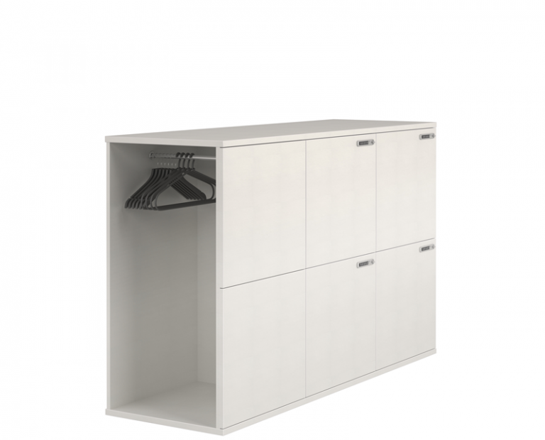 Smaller White Locker With Coat Room Attached