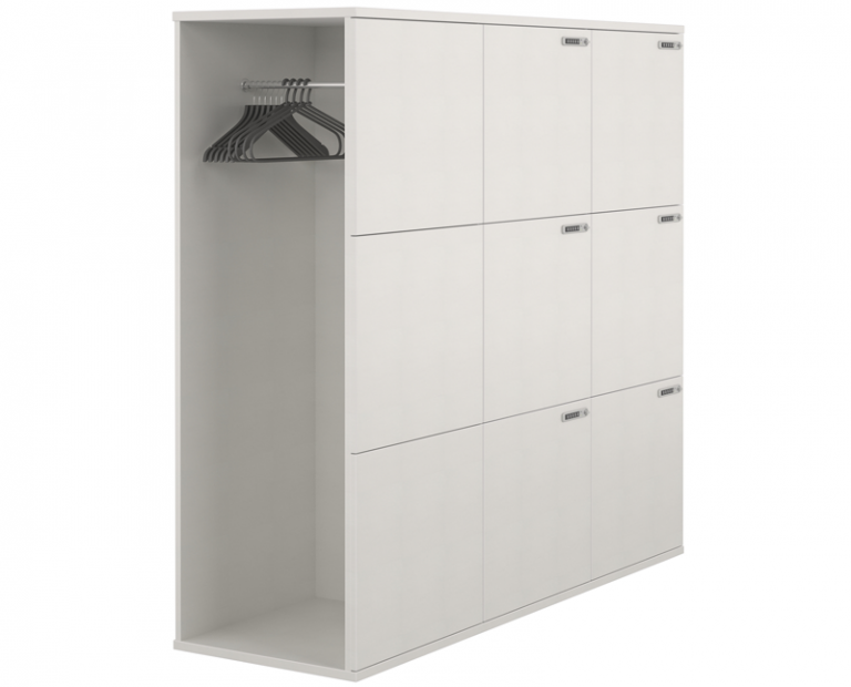 Big White Locker With Hanger Room Attached