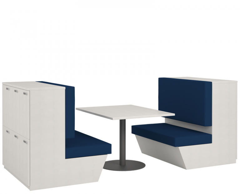 Seated Lockers With Tables