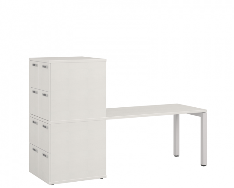 Desk Space With Lockers Attached