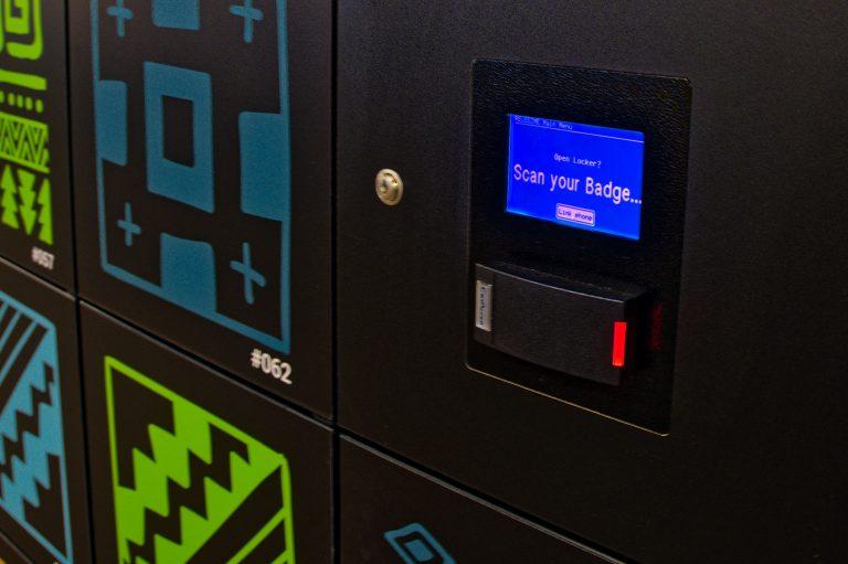 Badge Scanner on Locker