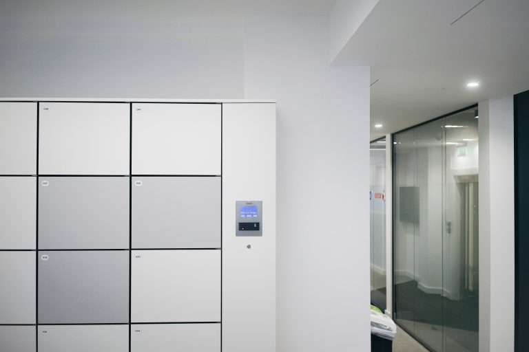Grey and white Simplicity Lockers